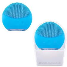 Esponja Massageadora Elétrica Facial Limpeza Azul