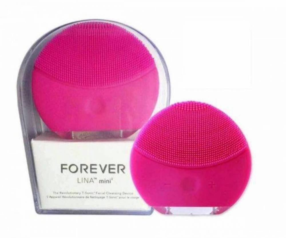 Esponja Massageadora Elétrica Facial Limpeza Rosa