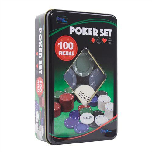 Fichas De Poker Set 100 Fichas No Estojo De Lata Onyx