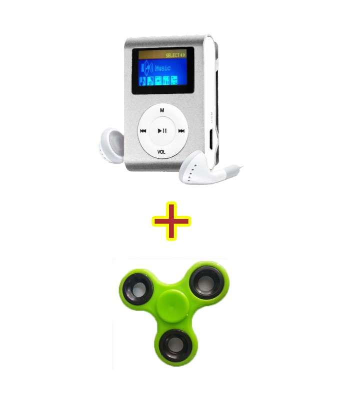 Kit Fidget Hand Spinner + MP3 Player Prata