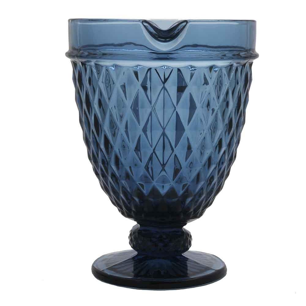 Jarra de Vidro Azul  Bico de Abacaxi 1,1L - Lyor