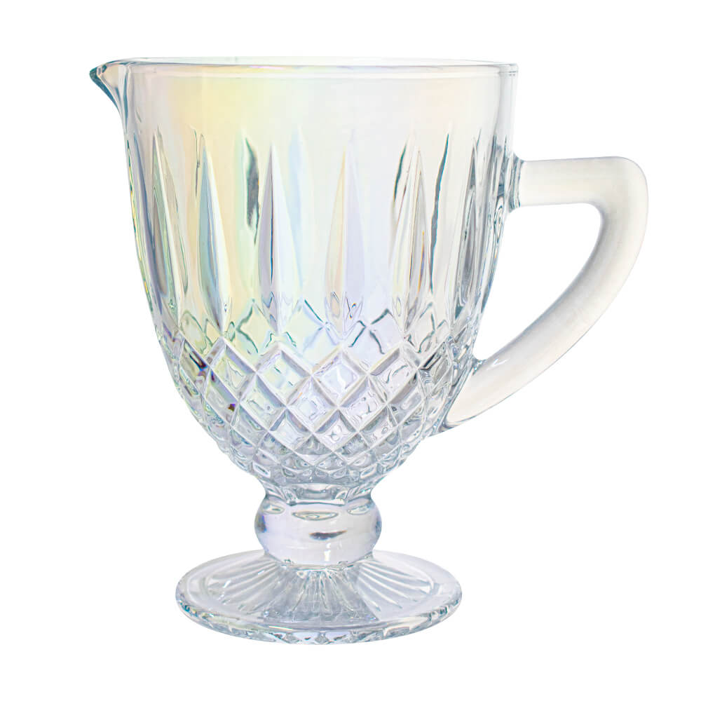 Jarra de Vidro Barroco Transparente Furta-cor 1,2 Litro - Casambiente