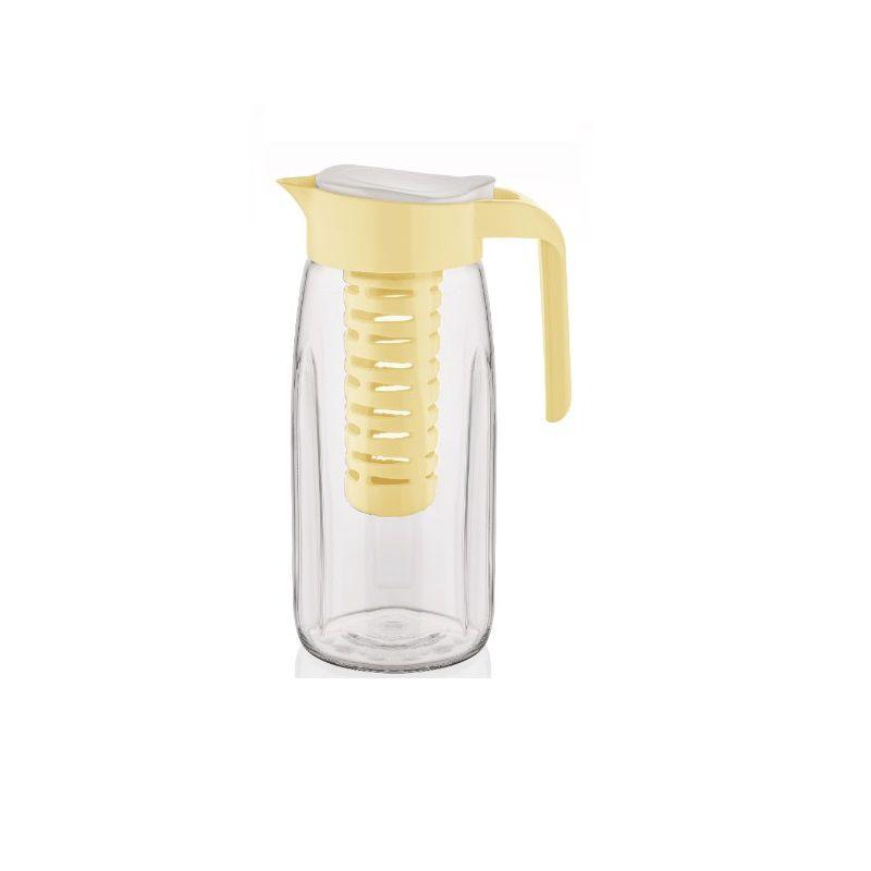 Jarra de vidro com Infusor removível Amarela - Casambiente