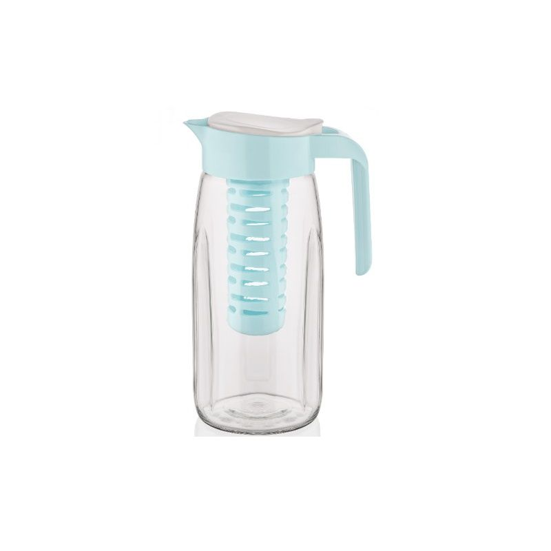 Jarra de vidro com Infusor removível Azul - Casambiente