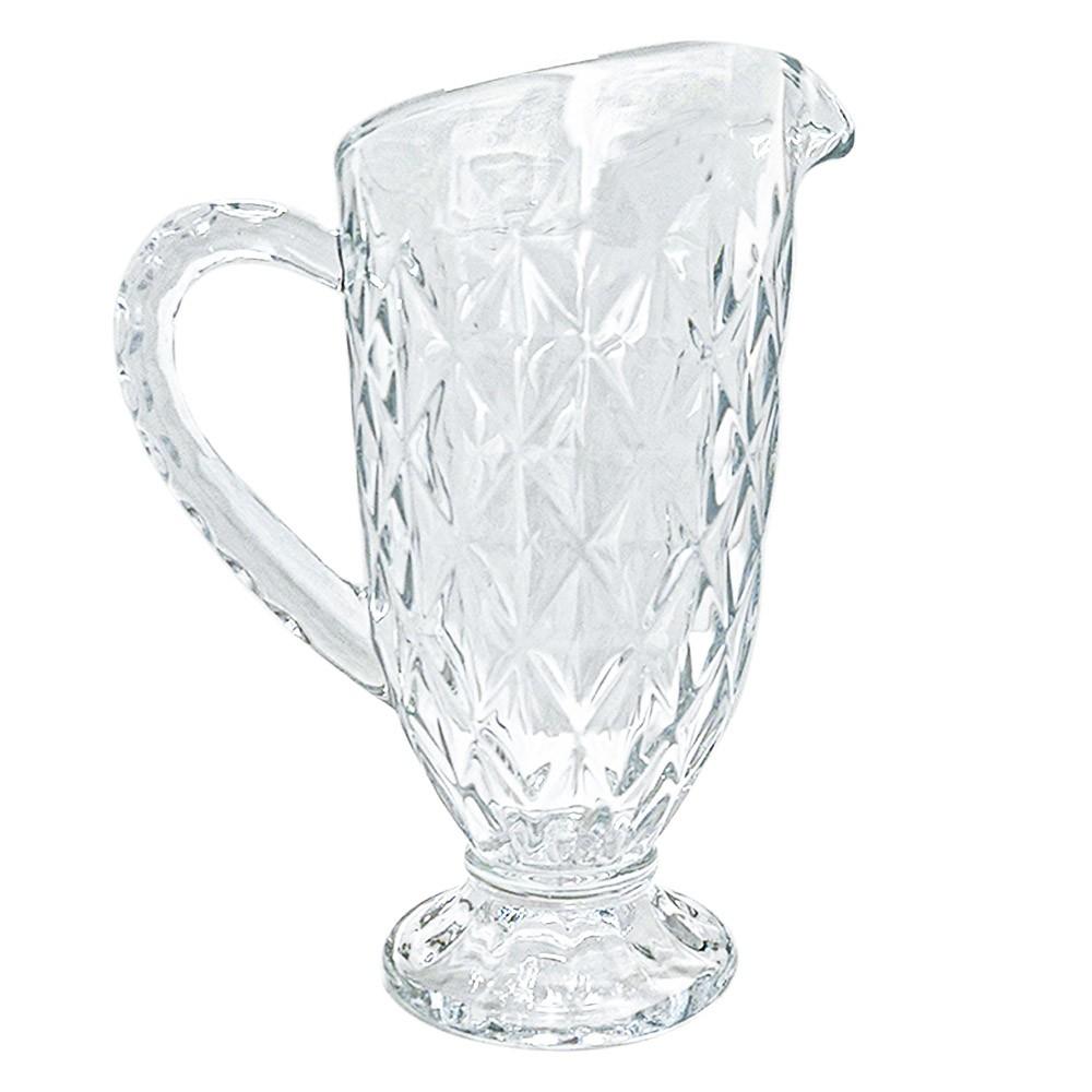 Jarra de Vidro Diamond Transparente 1,1L - Casambiente