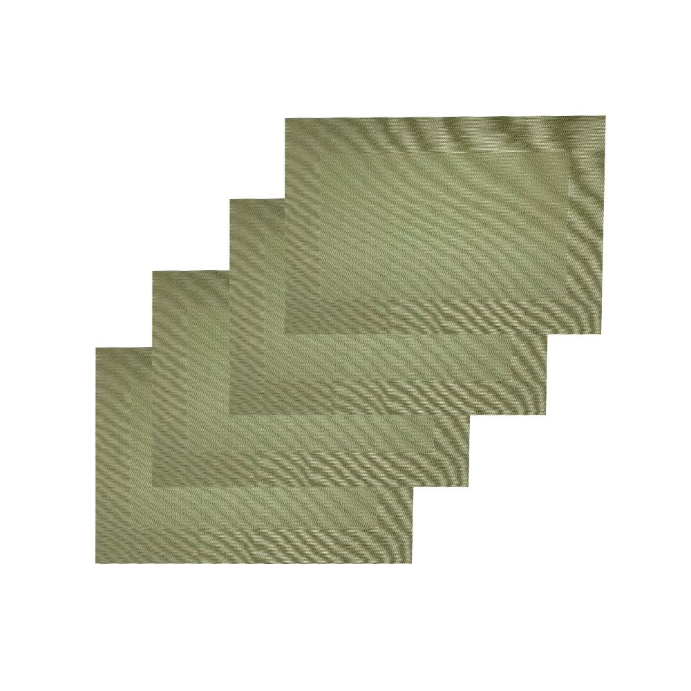 Jogo Americano 4 peças Retangular Verde - Casambiente