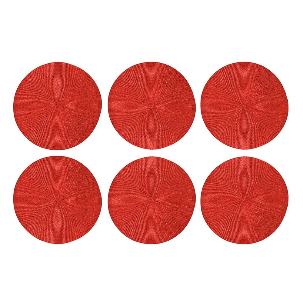 Jogo Americano 6 peças Alegro Vermelho - Casambiente