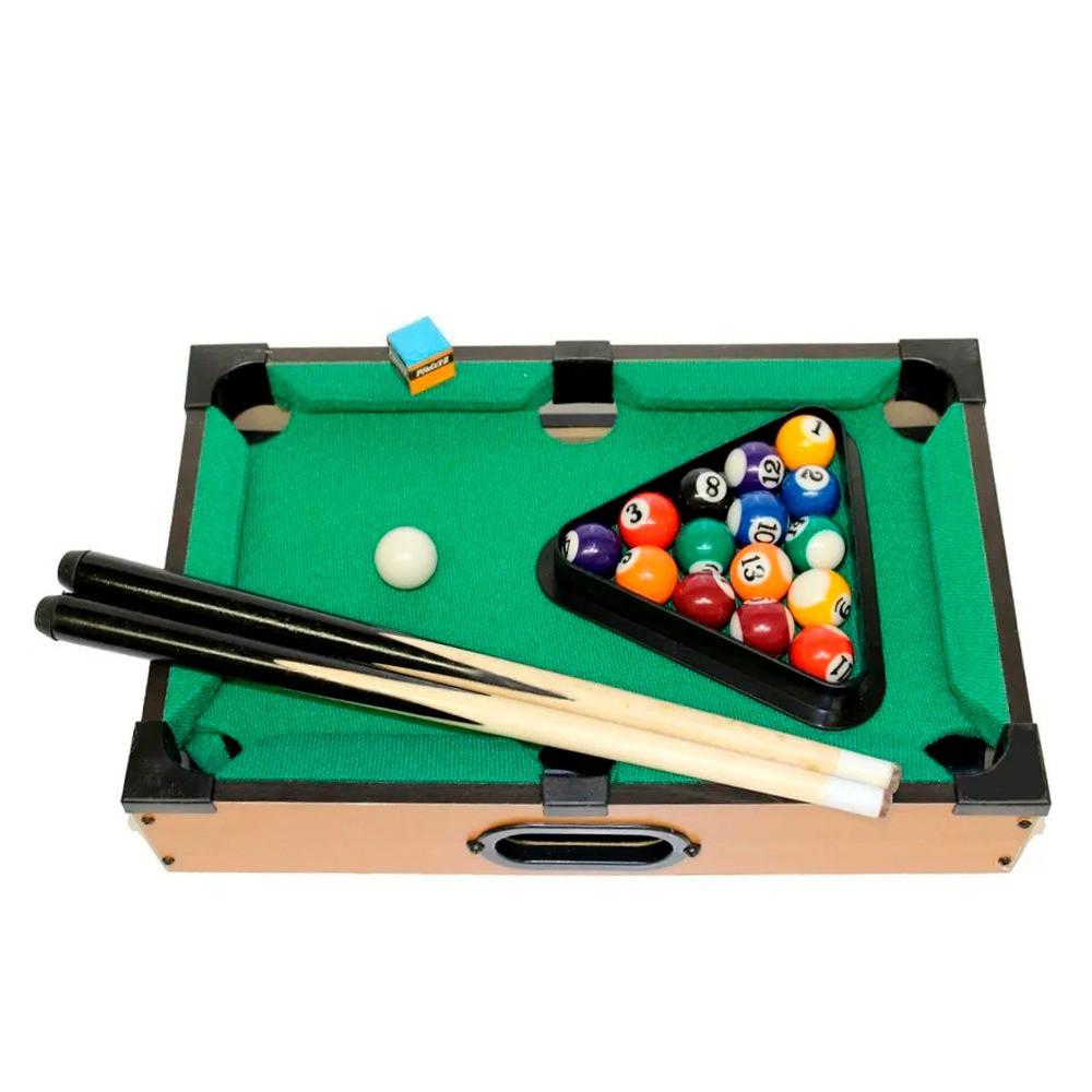 Jogo Bilhar Sinuca Snooker Grande em Madeira 64x37x17cm
