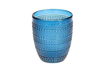 Jogo de Copos de Vidro 320ml 6 Peças - Balls Azul COVI053