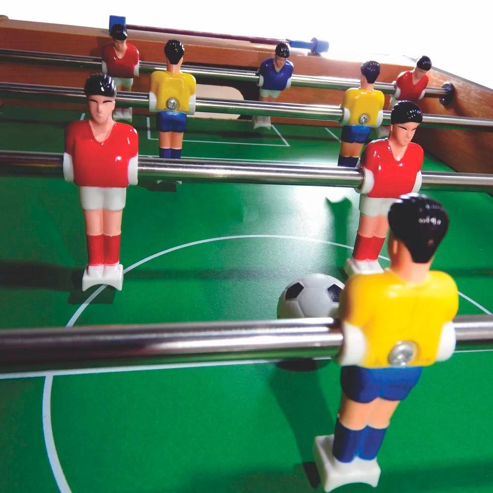 Jogo Pebolim Futebol de Mesa Grande 70x37x17cm