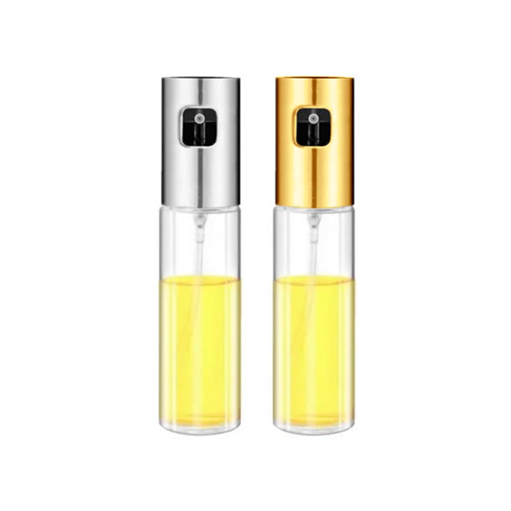 Kit 2 Borrifador e Pulverizador de Azeite Spray Prata e Dourado - Livon