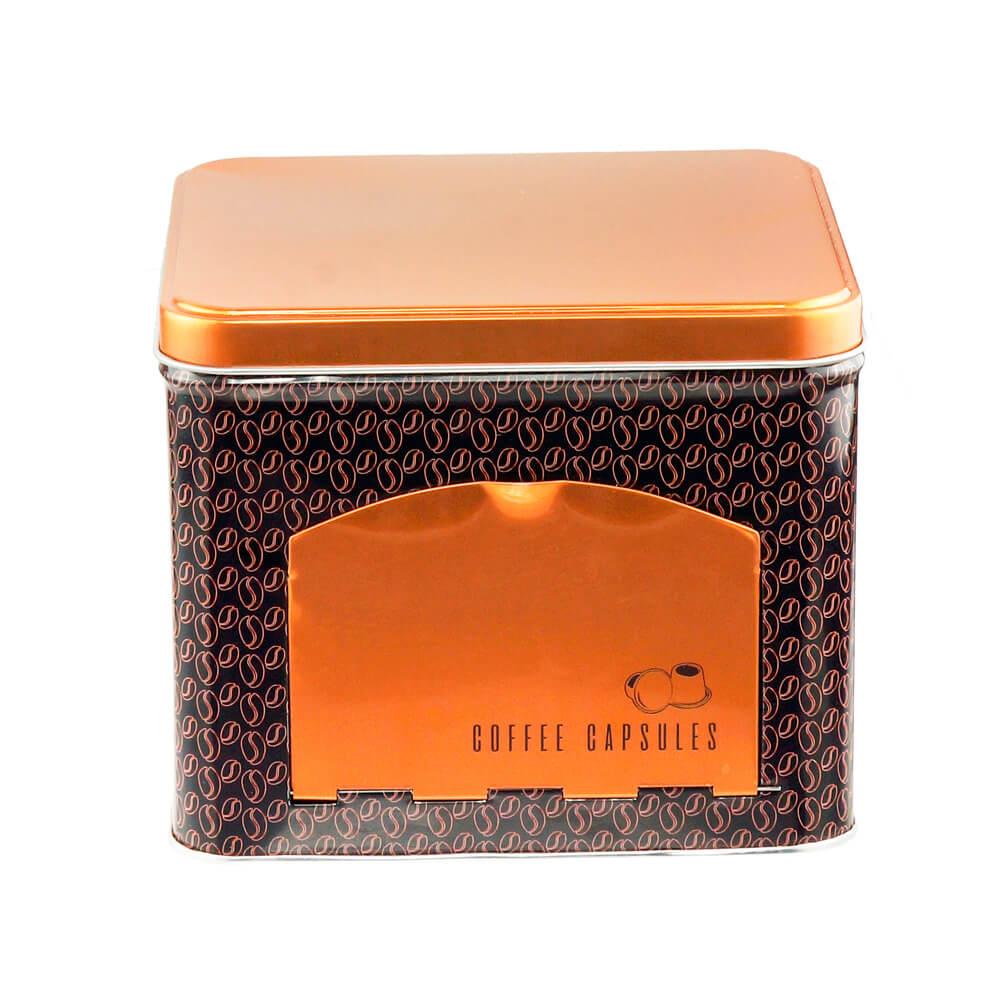 Lata Decorativa Porta Cápsulas Coffee Beans - Lyor