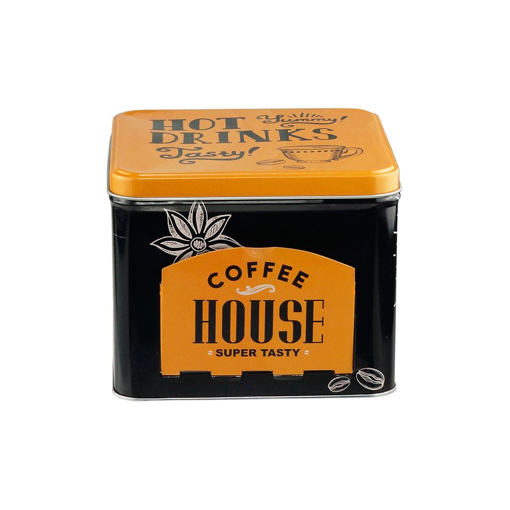 Lata Decorativa Porta Cápsulas Coffee House - Lyor