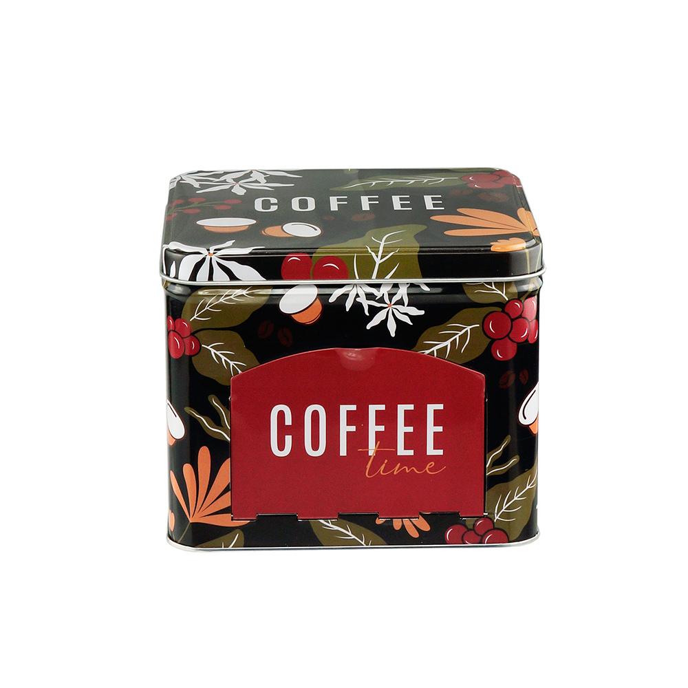 Lata Decorativa Porta Cápsulas Coffee Time - Lyor