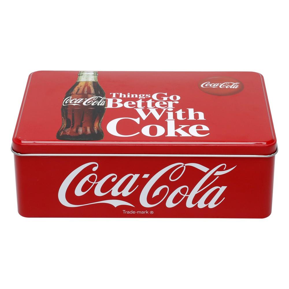 Lata decorativa Coca-Cola Retangular 20cm