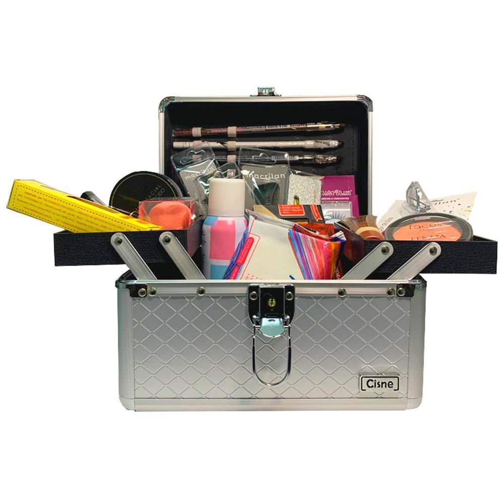 Maleta de Maquiagem kit Completo Profissional 26 Itens + Necessaire