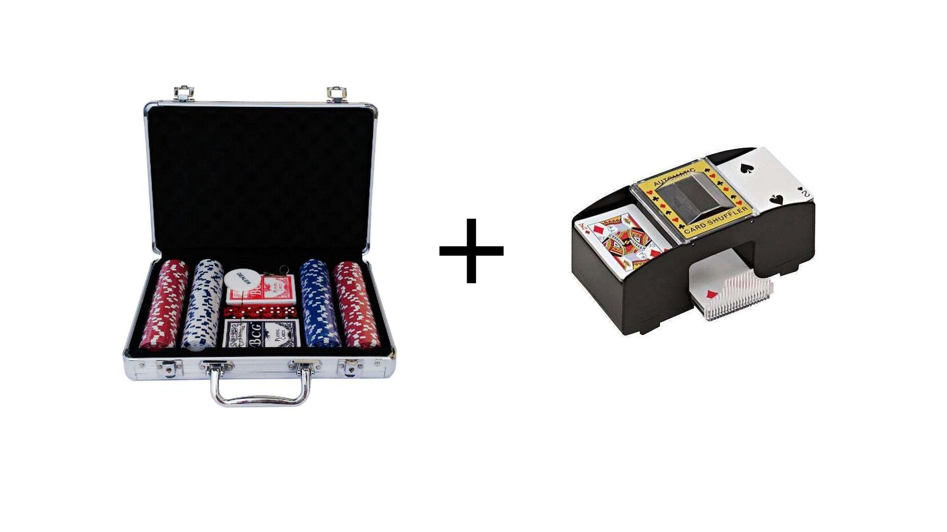 Maleta Poker Profissional 200 Fichas Numerada + Embaralhador