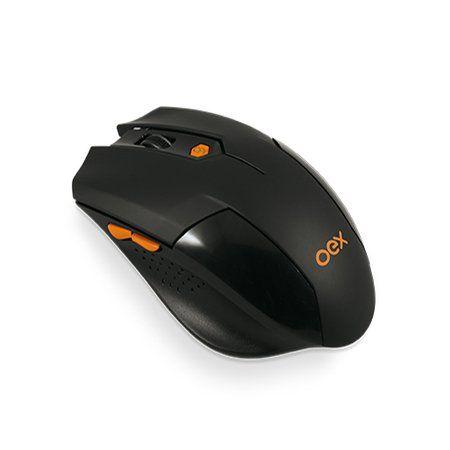 Mouse Gamer Oex Vertex Óptico Sem Fio 6 Botões MS-400 Preto