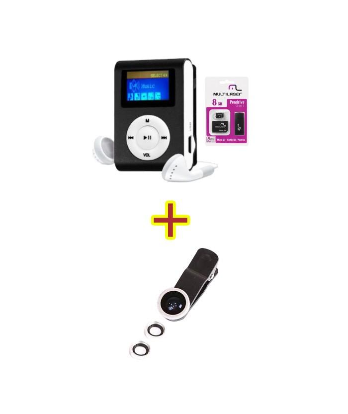 MP3 Player + Mc058 + Kit Lente