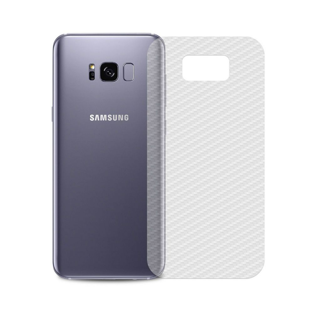 Película Traseira de fibra de Carbono transparente para Samsung Galaxy S8 Plus