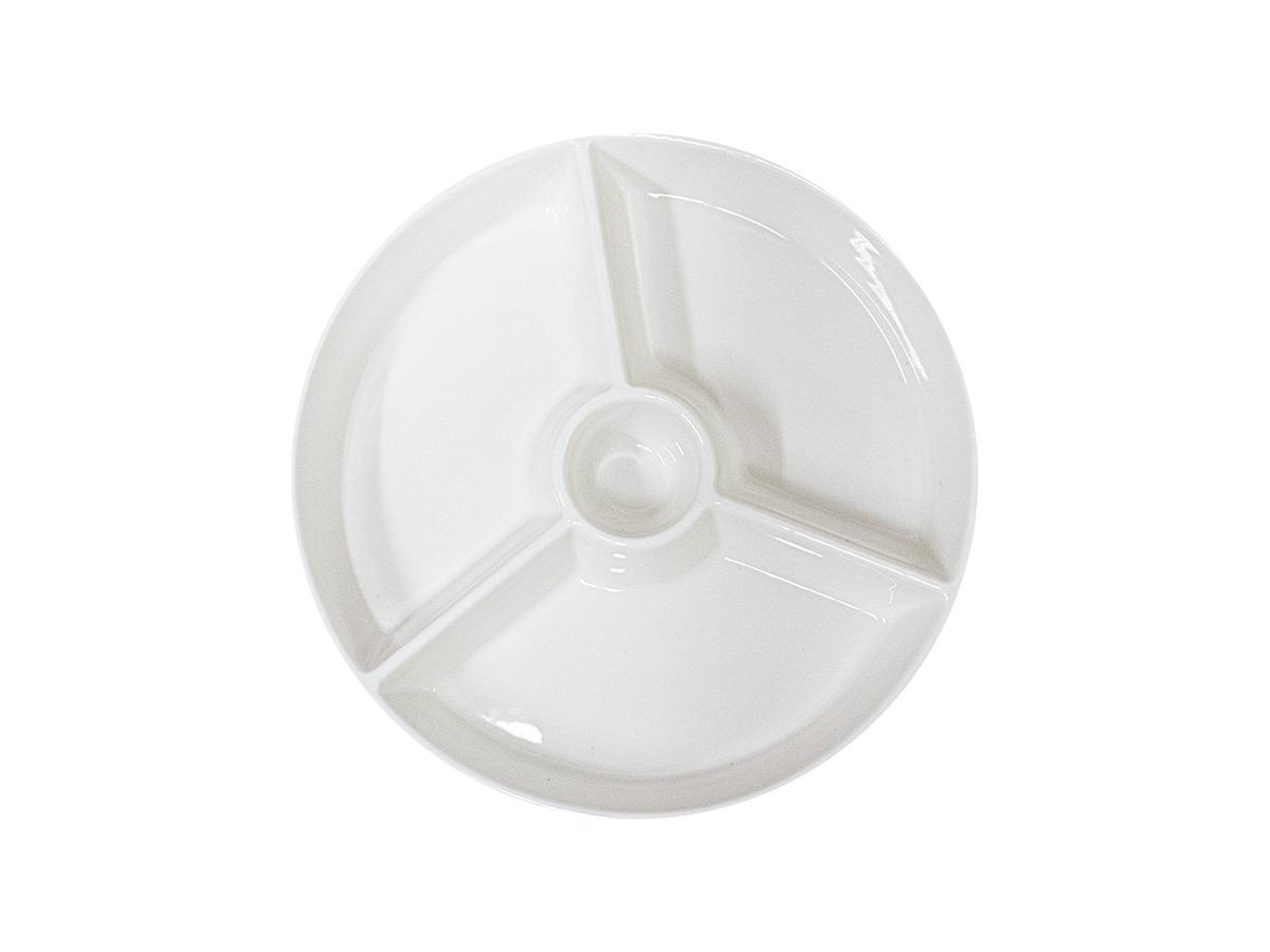 Petisqueira de Porcelana Kansas com 4 Divisórias - Lyor