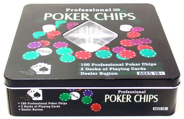 Poker Chips Profissional 100 Fichas Numerada
