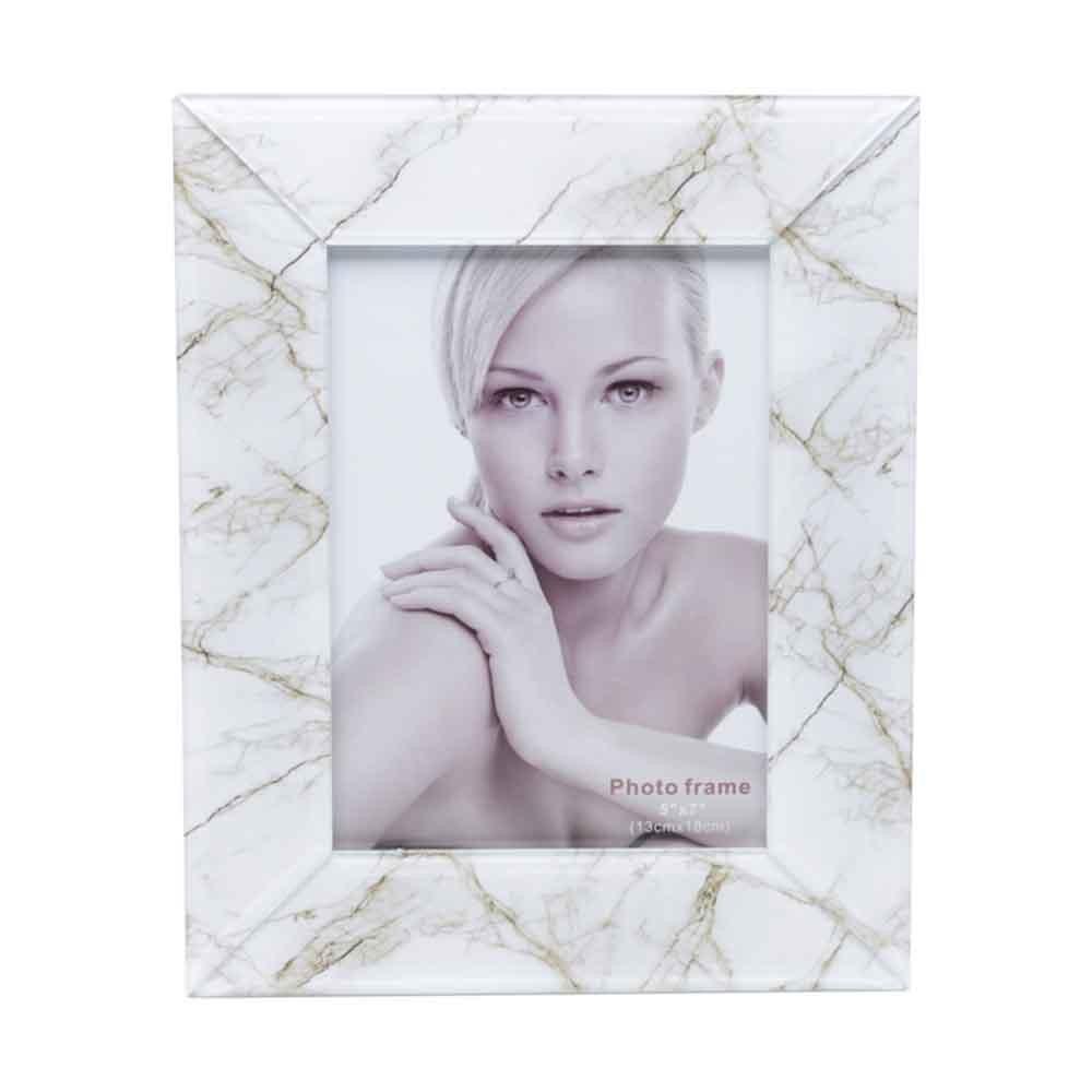 Porta Retrato de vidro Marmorizado 10x15cm - Lyor