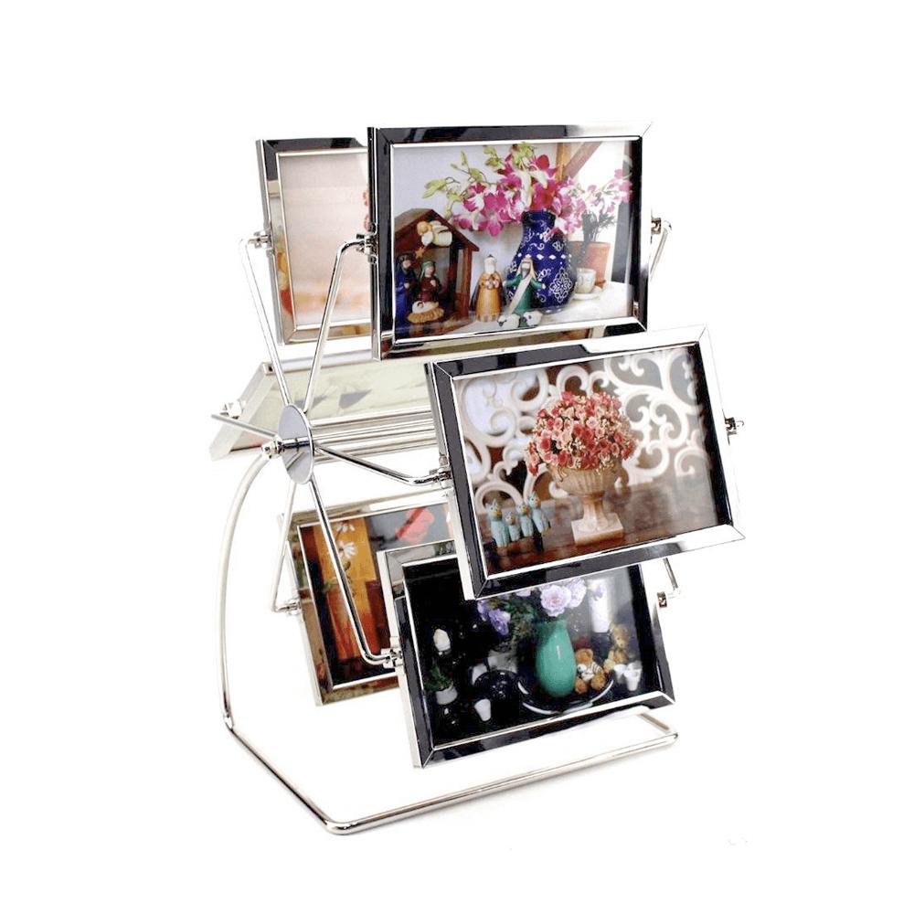 Porta retrato giratório horizontal 12 fotos 10x15 - Sanxia