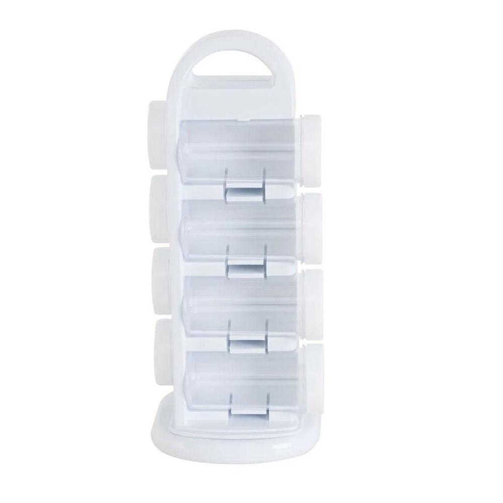 Porta Tempero Giratório de Plástico 08 Peças - Livon