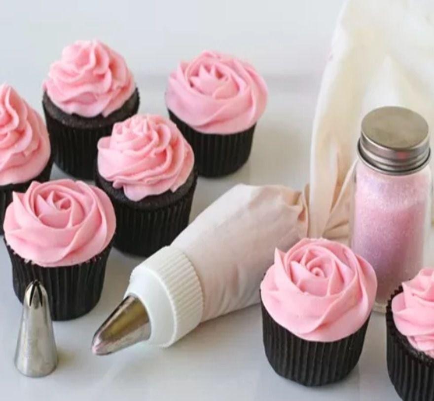 Saco Decorador Confeiteiro Com 12 Bicos Inox Bolo Cup Cake