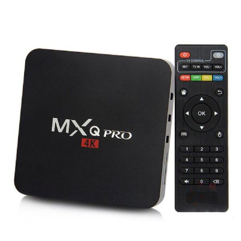 SMART TV BOX QUAD-CORE 4K / HDMI / WI-FI ANDROID 6.0 CORTEX-A5 - MXQ PRO Anatel