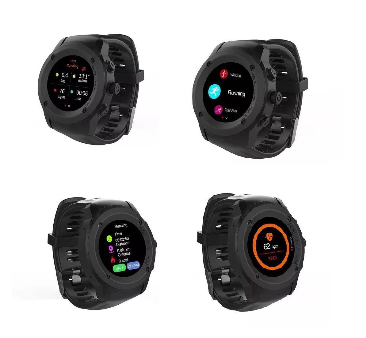 Smartwatch Multilaser Relógio SW2 Plus GPS Bluetooth Tela Touchscreen Leitura de mensagem Monitor cardíaco APP exclusivo IOS/Android - P9080