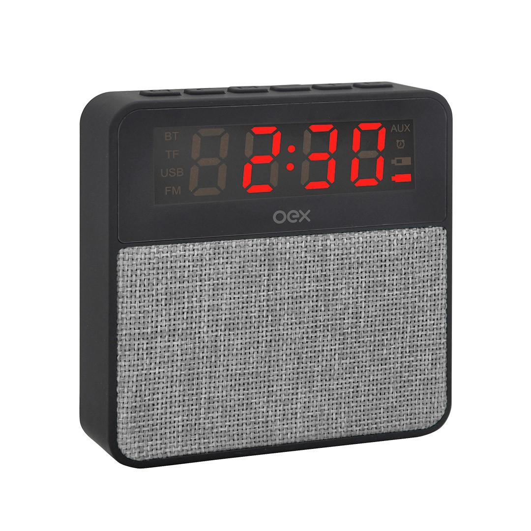 Som Clock  Speaker Wake  CS100 Preto com cinza