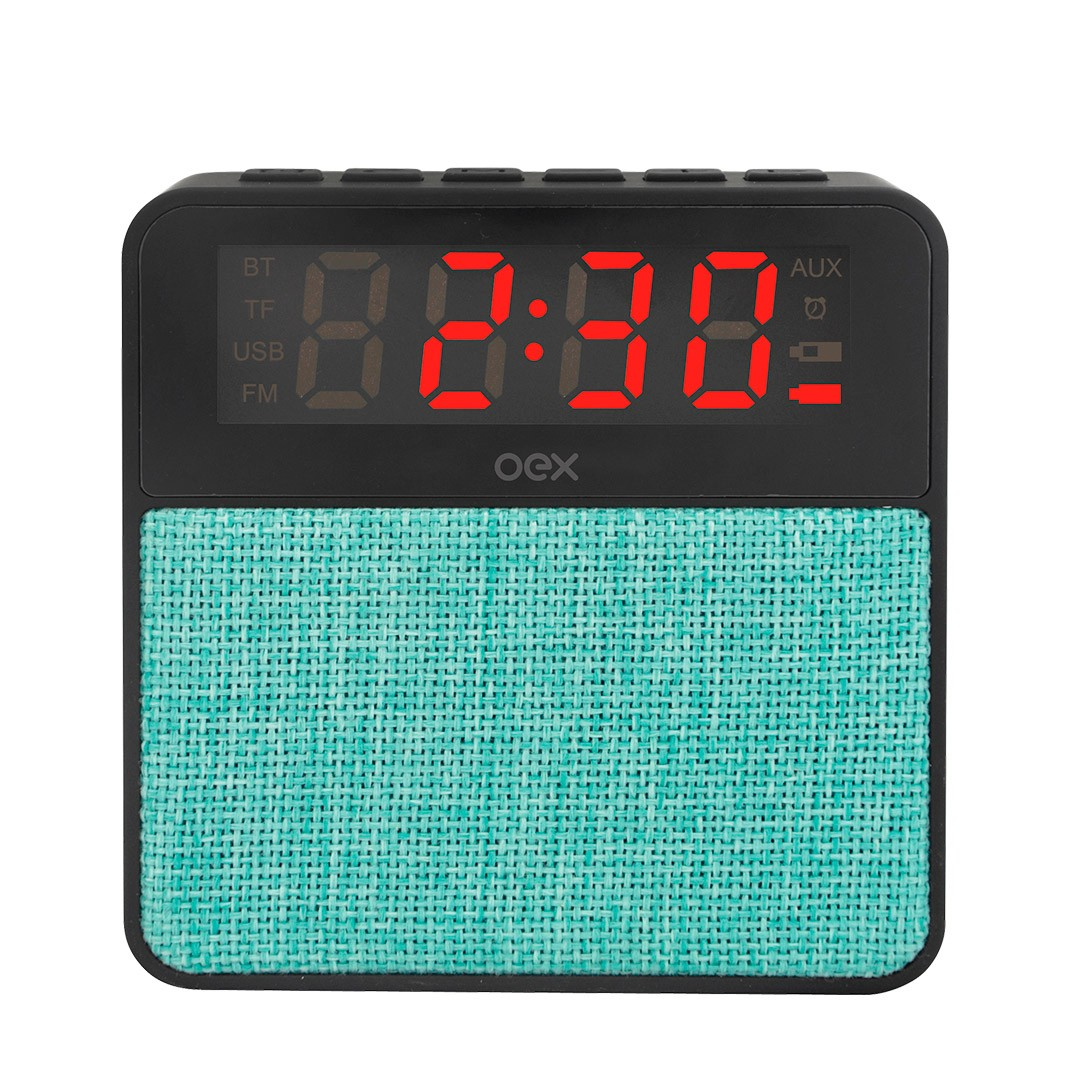 Som Clock  Speaker Wake  CS100 Preto com verde
