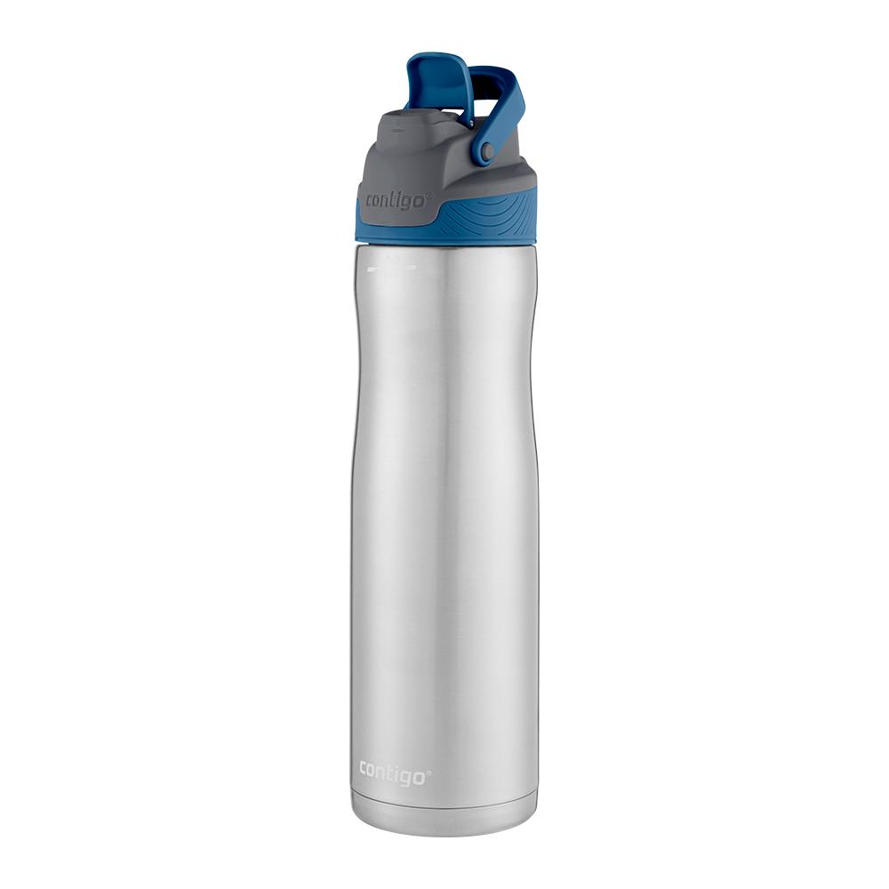 Squeeze Térmico Autoseal  Aço Inox Com Tampa Azul 710ml - Contigo