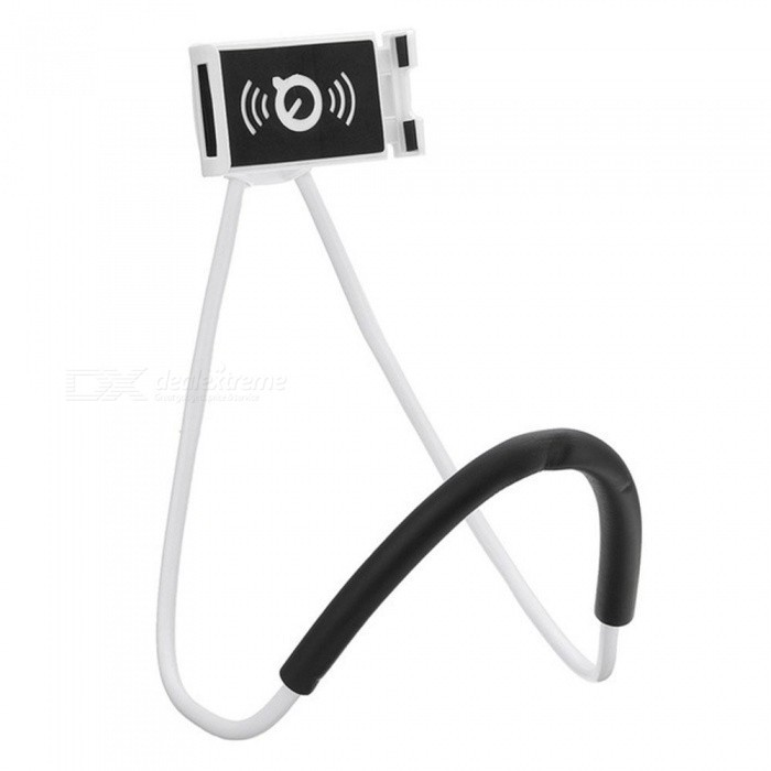 Suporte Celular Articulado De Pescoco Selfie Cama Mesa Sofa Branco