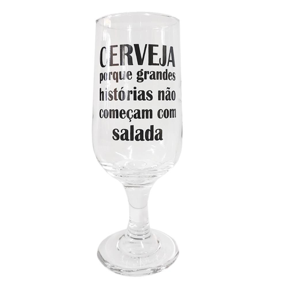 Taça Cerveja Frases 300ml - Casambiente