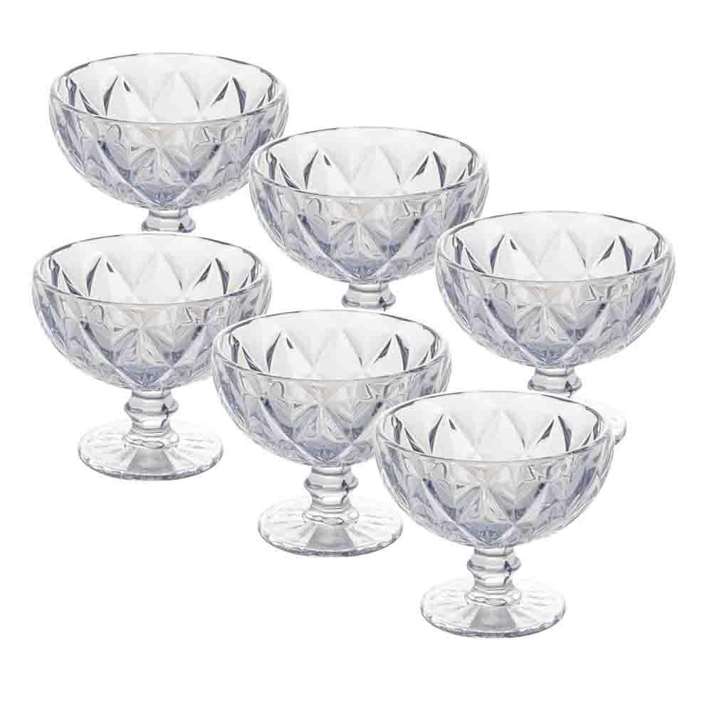 Taças de sobremesa em Vidro 310ml 6 peças Transparente - Lyor