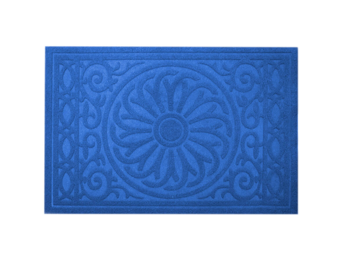 Tapete Medalhão Azul 40x60cm - Casambiente