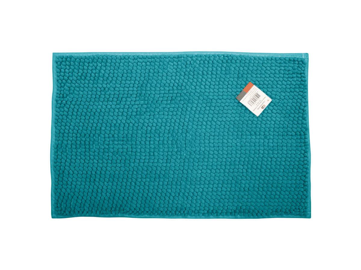 Tapete Para Banheiro Azul 38x58cm - Casambiente