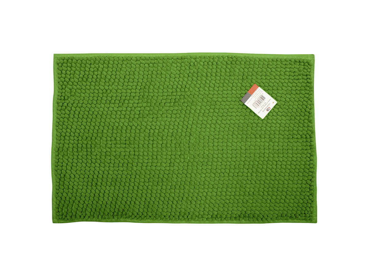 Tapete Para Banheiro Verde 38x58cm - Casambiente