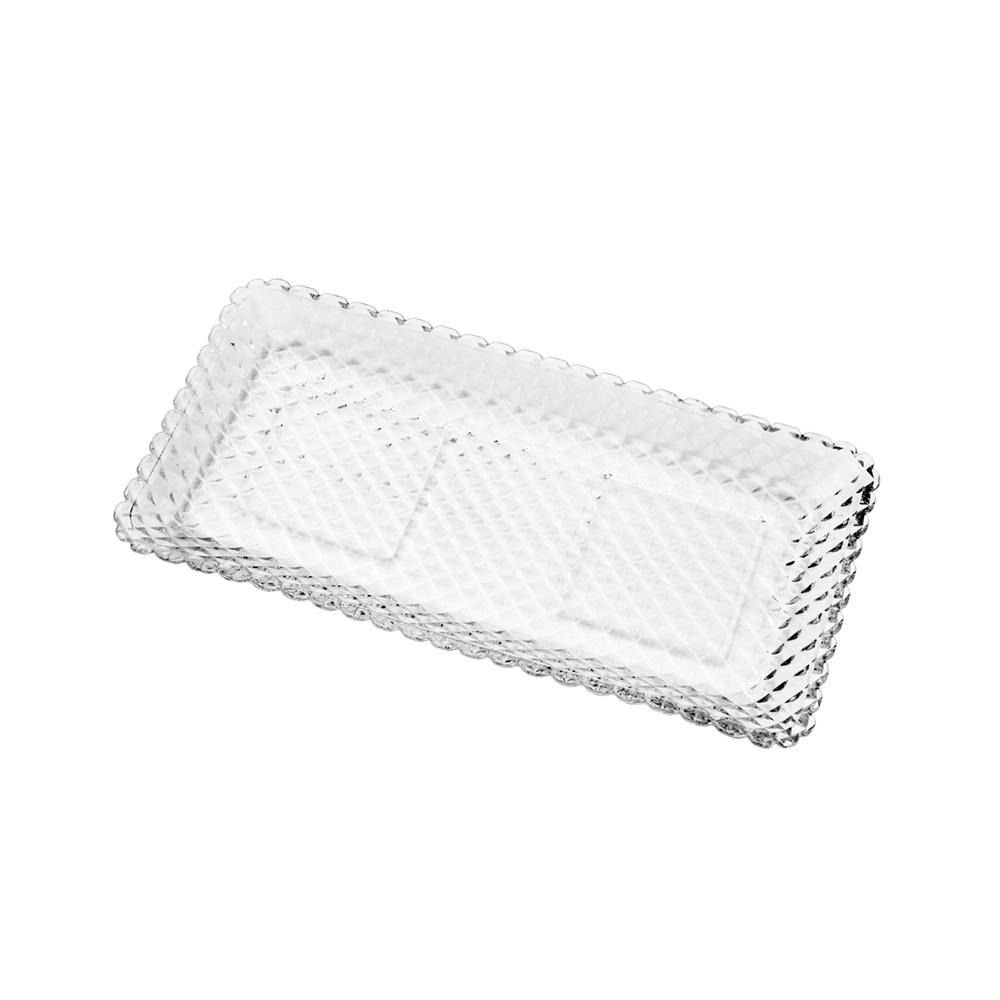 Travessa de vidro Transparente Diamante - Lyor
