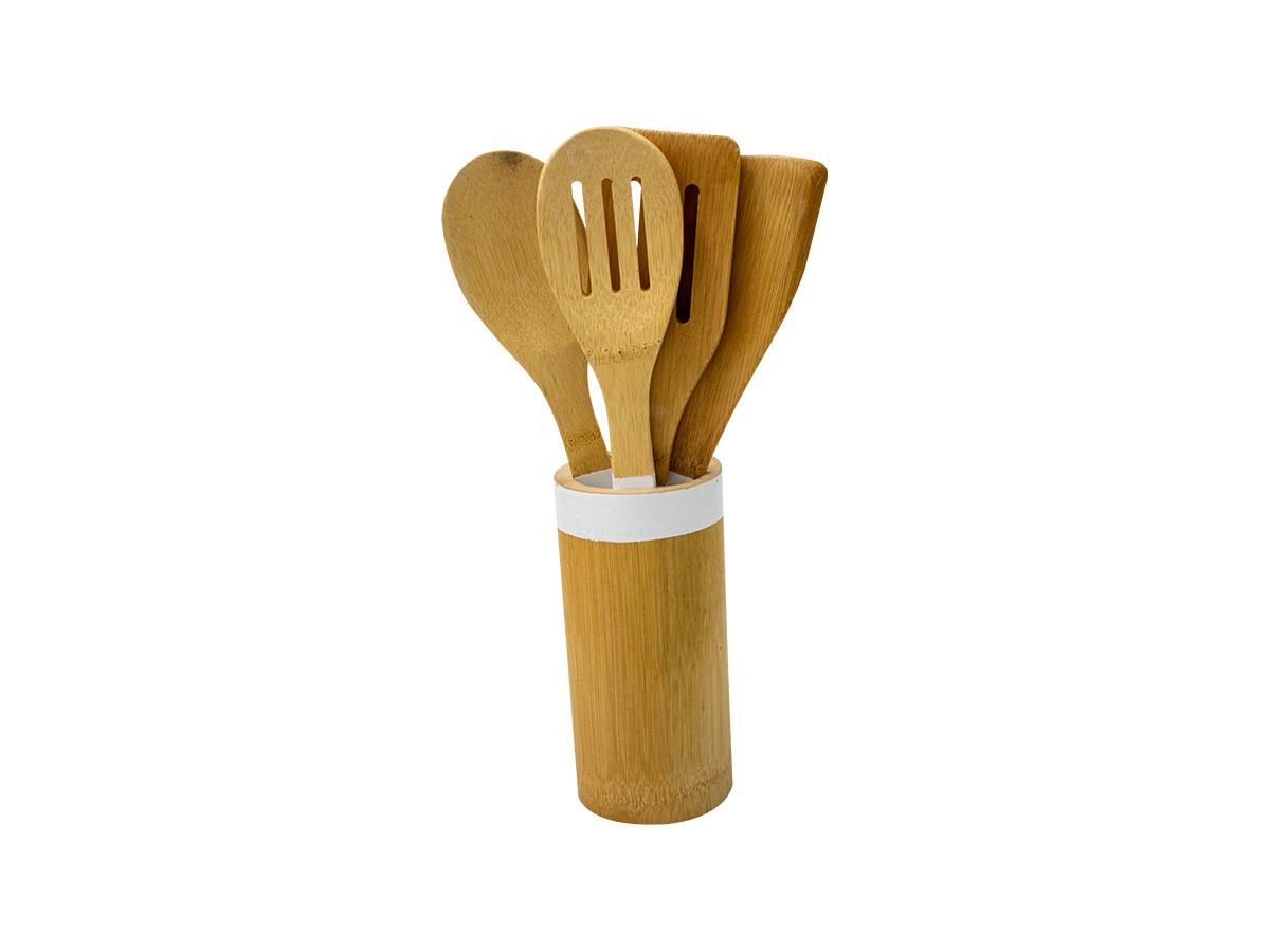 Utensílios de Cozinha 5 peças em Bambu - Casambiente
