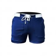 Bermuda & Sunga Boxer Grigo Collection Polo Azul Marinho