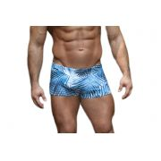 Sunga Boxer Grigo Collection Blue Forest com bolso