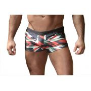 Sunga Boxer Grigo Collection England com bolso