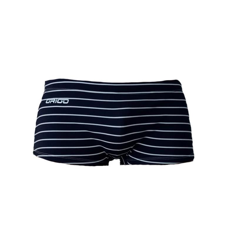 Sunga Boxer Lines Azul Marinho