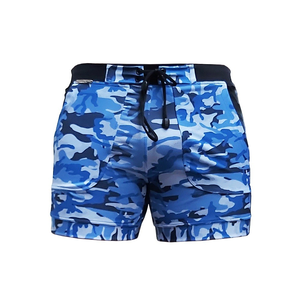 Bermuda & Sunga Boxer Grigo Collection Camuflado azul
