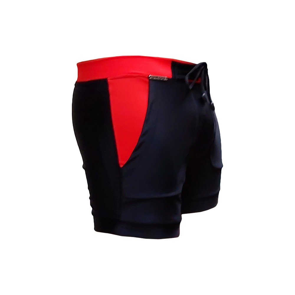 Bermuda & Sunga Boxer Grigo Collection Preta e Vermelha