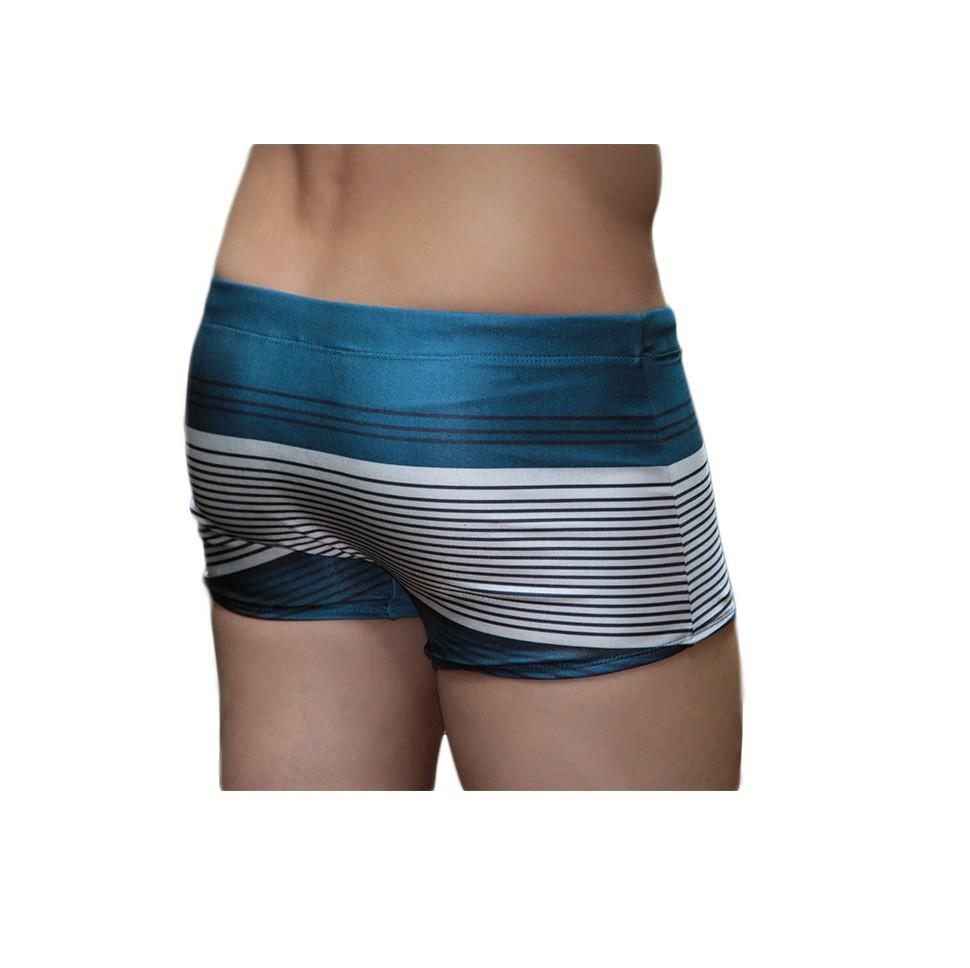 Sunga Boxer Grigo Collection Blue Lines com bolso